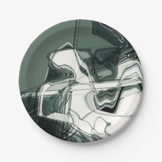 Land Formations Abstract Art Paper Plate