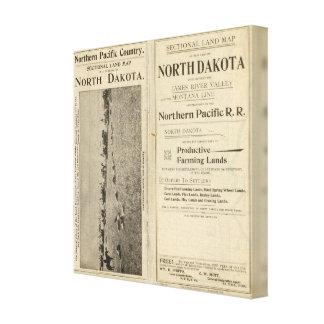 Land Grant of North Dakota Canvas Prints