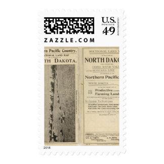 Land Grant of North Dakota Postage Stamp