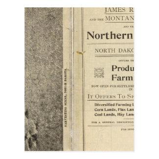 Land Grant of North Dakota Postcard