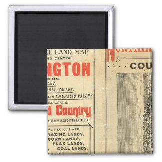 Land grant Washington and Oregon 2 Inch Square Magnet