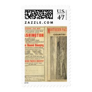 Land grant Washington and Oregon Postage Stamp