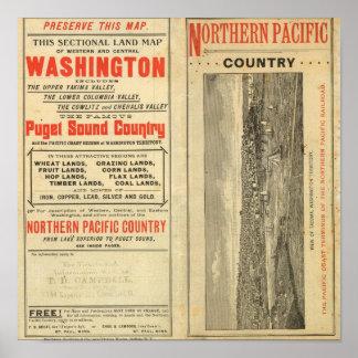 Land grant Washington and Oregon Poster