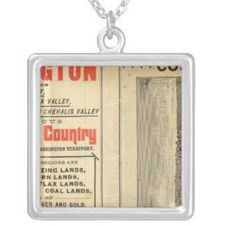Land grant Washington and Oregon Silver Plated Necklace