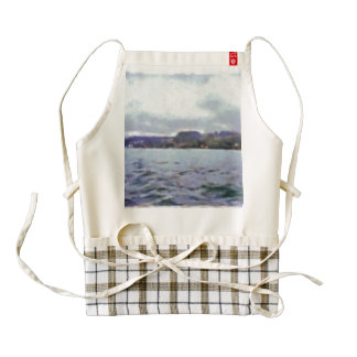 Land in the distance zazzle HEART apron