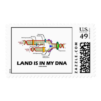Land Is In My DNA (DNA Replication) Postage Stamps