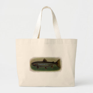 Land-Locked Salmon Painting Tote Bags