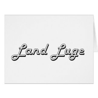 Land Luge Classic Retro Design Large Greeting Card