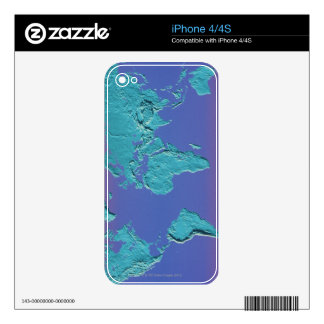Land Mass Map iPhone 4 Skins