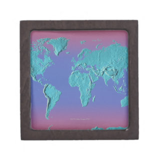 Land Mass Map Jewelry Box