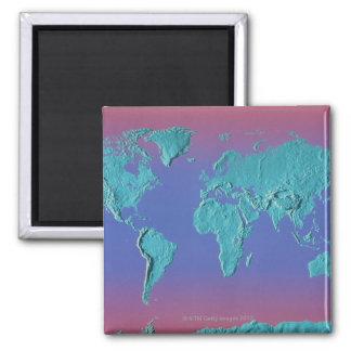Land Mass Map Magnet