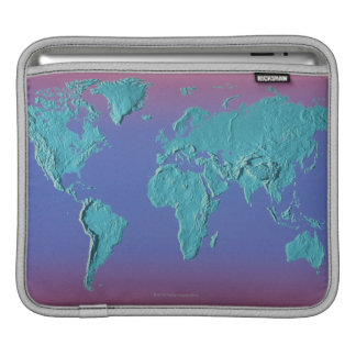 Land Mass Map Sleeve For iPads