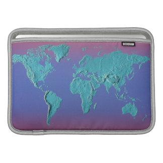 Land Mass Map Sleeve For MacBook Air