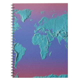 Land Mass Map Spiral Notebook
