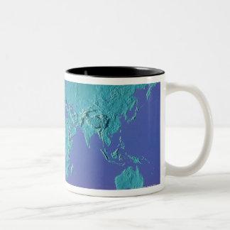 Land Mass Map Two-Tone Coffee Mug