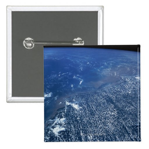 Land Meeting Ocean 2 Inch Square Button