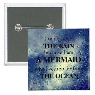 Land Mermaid Pinback Button