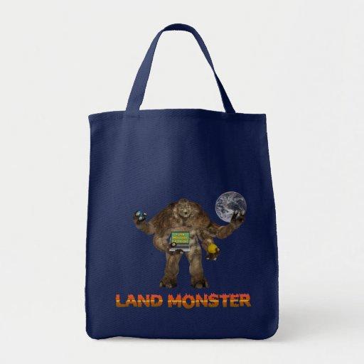 Land Monster Canvas Bag
