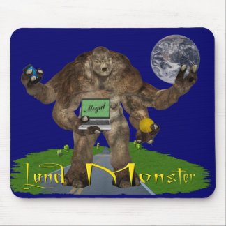 Land Monster Mouse Pad