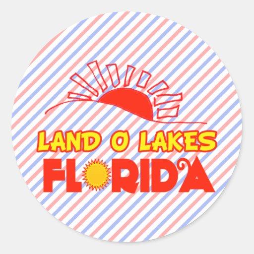 Land O Lakes, Florida Classic Round Sticker