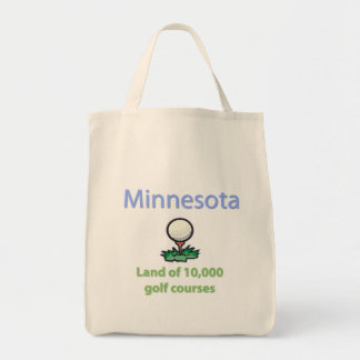 Land of 10,000 Golf Courses Grocery Tote Bag