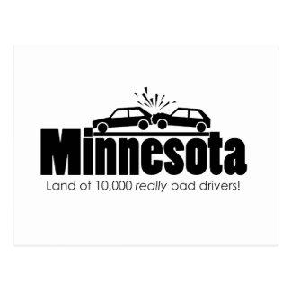 Land of 10,000 Really Bad Drivers Postcard