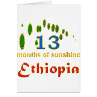 Land of 13 months of sunshine card