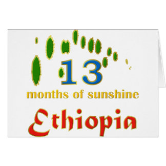 Land of 13 months of sunshine card