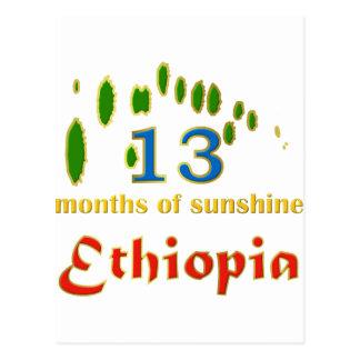 Land of 13 months of sunshine postcard