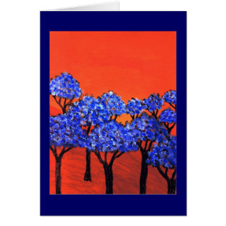 Land of Blue Trees Greeting Card