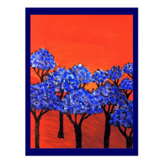 Land of Blue Trees Postcard