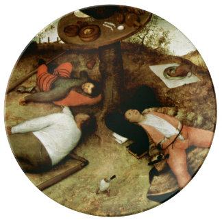 Land of Cockaigne by Pieter Bruegel the Elder Dinner Plate