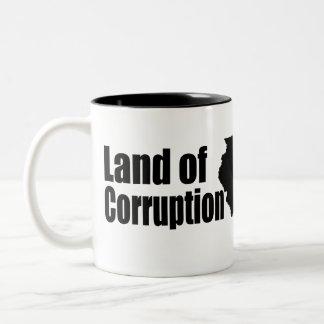 Land of Corruption Two-Tone Coffee Mug