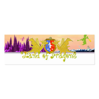 Land of Dragons Name Tag Emma for Kids Mini Business Card