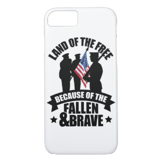 Land of Free Because of Fallen & Brave iPhone 7 Case