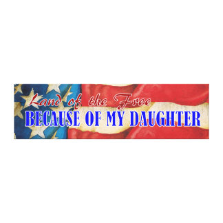 Land of Free Daughter Canvas Plaque