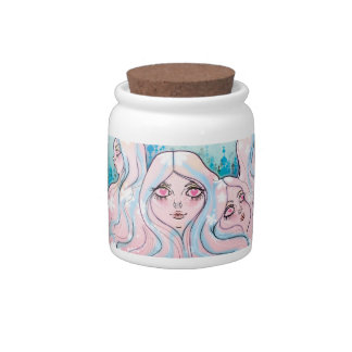 """""""Land of Girl Head Mountains"""" Candy Dish"""