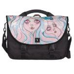 """""""Land of Girl Head Mountains"""" Laptop Bag"""