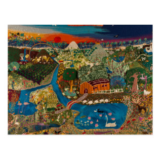 land of hope, embroidered by horacio postcard