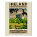 Ireland Land of romance, vintage poster
