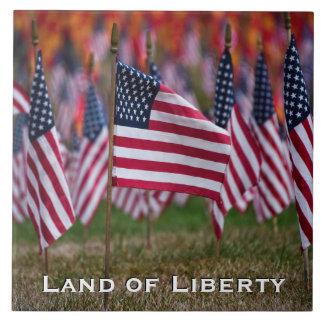 Land of Liberty Flag Tile A