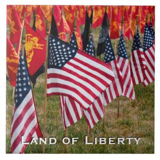 Land of Liberty Flag Tile D