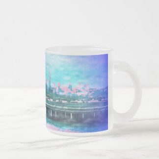Land of Make Believe 10 Oz Frosted Glass Coffee Mug
