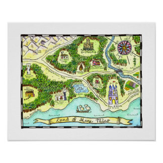 Land of Many Tales Map Poster