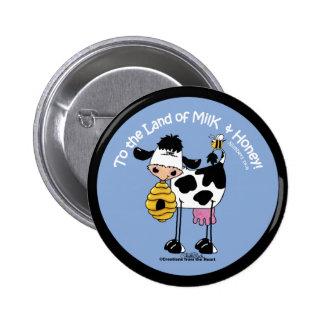 Land of Milk & Honey Button