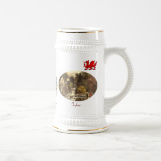 Land of My Fathers Toasting Stein 18 Oz Beer Stein