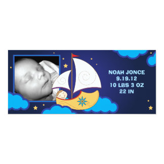 "Land of Nod Baby Announcement 4"" X 9.25"" Invitation Card"