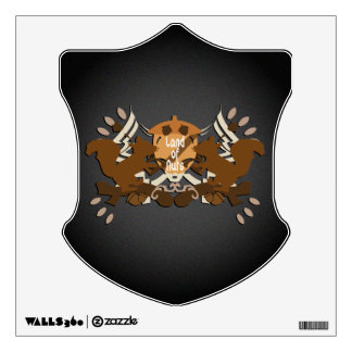 Land of Nuts Family Shield Wall Sticker
