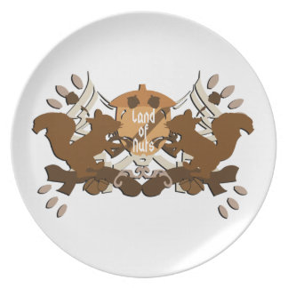 Land of Nuts Squirrels Plates