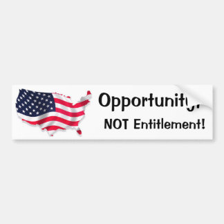 Land of Opportunity Bumper Sticker